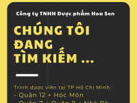 [TP Hồ Chí Minh] Tuyển dụng Trình dược viên