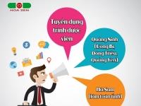 Tuyển dụng Trình dược viên HÀ NAM - toàn tỉnh (Hạn nộp hồ sơ 15/02/2019 - đi làm ngay)