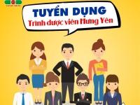 Tuyển dụng Trình dược viên tại Hưng Yên - đi làm ngay (nộp hồ sơ đến hết 15/2/2019)