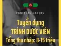 [Gia Lai, Kon Tum, Đắc Lắc, Lâm Đồng] Tuyển dụng Trình dược viên